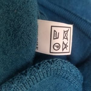 Geiger of Austria Sweaters - Geiger Teal Blue Button Up Wool Cardigan Sz 38/8